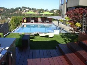 pool artificial turf