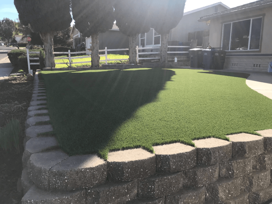 artificial grass boarder